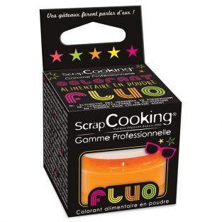 Colorant alimentaire en poudre Orange fluo 3 g