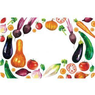 100 jam labels - Vegetables