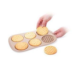 Waffle mould 6 holes Ø 9.5 cm - Silicone