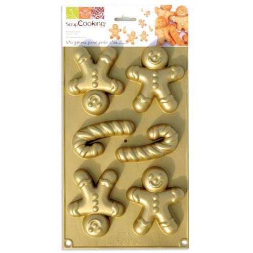 Moule en silicone Bonshommes en pain d'épice