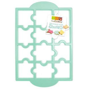 Puzzle Cookie Cutter Plate
