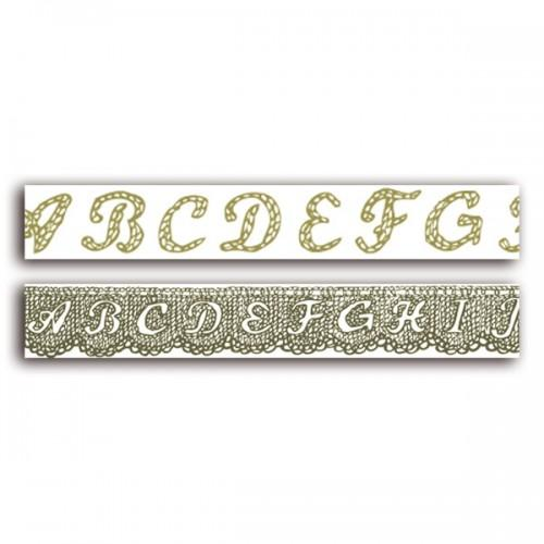 2 Alphabet lace Masking tapes 18 m
