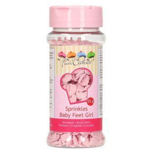 Décorations en sucre pour babyshower - Pieds de bébé rose