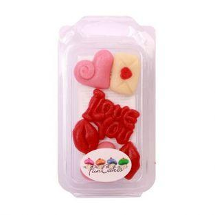 6 marzipan decorations - Love