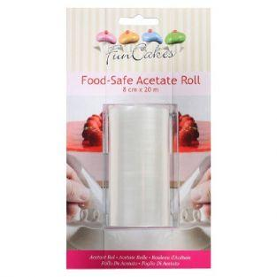 FunCakes Food-safe acetat roll 20 m x 8 cm