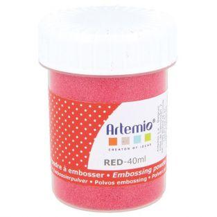 Embossing powder 40 ml - Red
