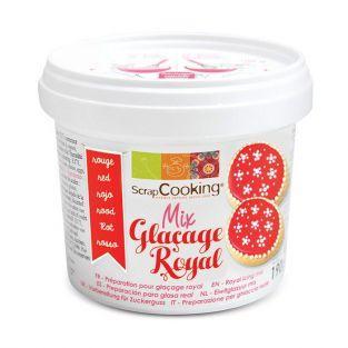 Gel glaseado real de cobertura pastelera 190 g - Rojo