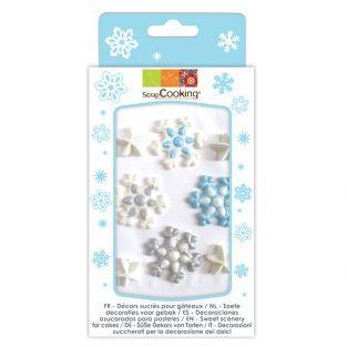 Decoraciones de azúcar - Copos de nieve