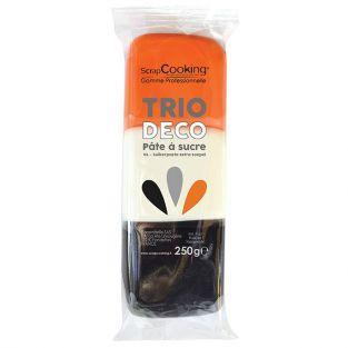 Trio de pâtes à sucre orange, blanc, noir 250 g
