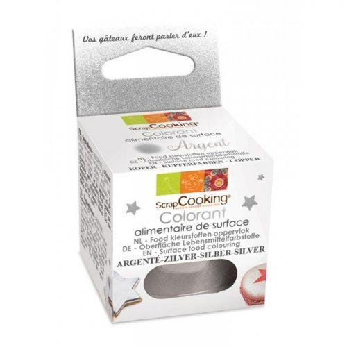 Surface Food colouring powder 5 g - Silver