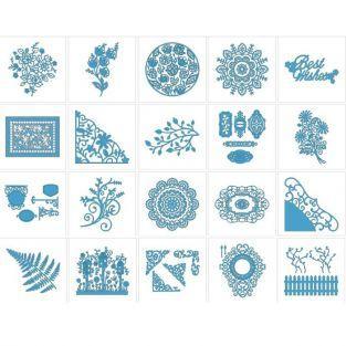 20 motifs dentelle Brother ScanNCut (1)
