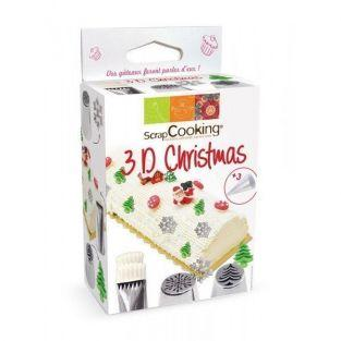 Kit Boquillas pasteleras de acero inoxidable - Edición Navidad