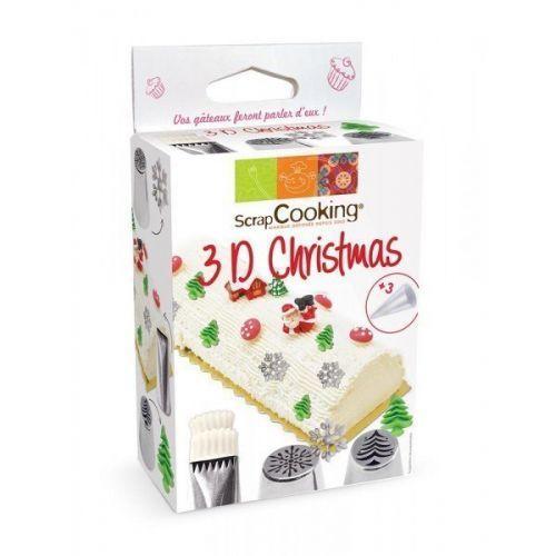 Kit de douilles à pâtisserie 3D - Edition Noël