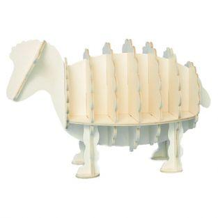 Wooden sheep bookshelf - White