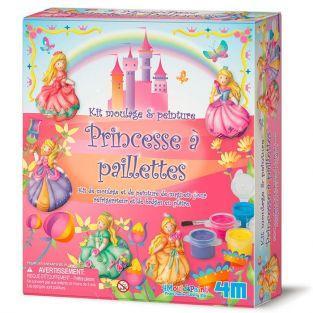Coffret de moulage et peinture - Princesses à paillettes