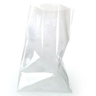 10 transparent food bags 30 x 18 cm