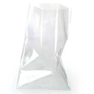10 transparent food bags 23 x 14 cm