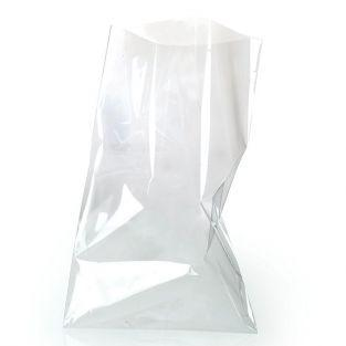 10 transparent food bags 19 x 11 cm
