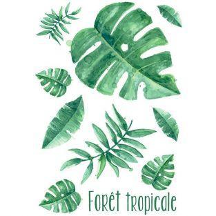 Transfer termoadhesivo para la ropa A4 - Bosque tropical