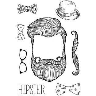 Transfert thermocollant noir & blanc A4 - Hipster