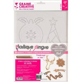 Shrinking plastic kit - Christmas decorations