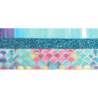 3 glitter tapes - 2 x 5 m et 1 x 2 m - Sirène