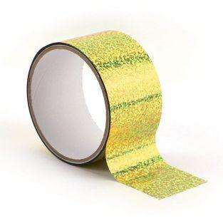 Queen tape holographique 8 m x 4,8 cm - Doré