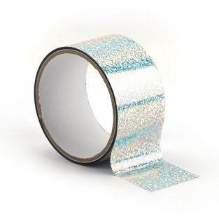Queen tape holographique 8 m x 4,8 cm - Argenté