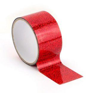 Queen tape holographique 8 m x 4,8 cm - Rouge