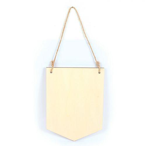 Suspension fanion en bois 20 x 15 cm