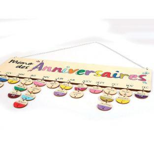 Wooden birthday calendar 40 x 12 cm