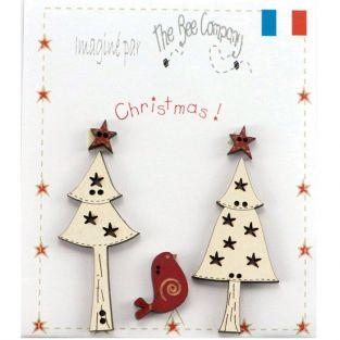 24 wooden Christmas decorations
