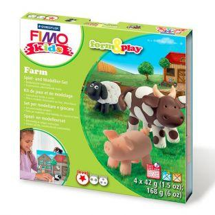 Set de modelado FIMO para niños - Granja de animales