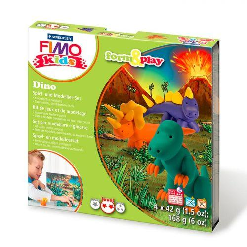 FIMO Modelling set for children - Dinosaurs