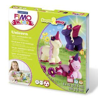 FIMO Modelling set for children - Unicorn