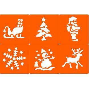 6 pochoirs Noël