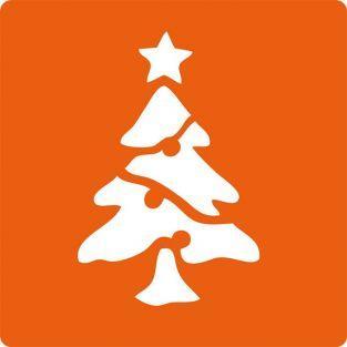6 Christmas stencils