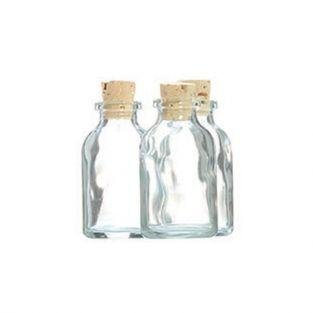 105 mini bouteilles en verre 6 cm avec bouchon liège