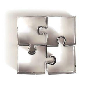 4 mini stainless steel cookie cutters - Puzzle