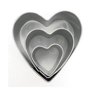 3 mini stainless steel cookie cutters - Hearts