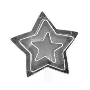 3 mini cortadores de galletas de acero inoxidable - Estrellas