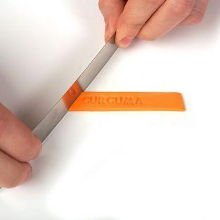 Réglette tampon alphabet pour pâte polymère