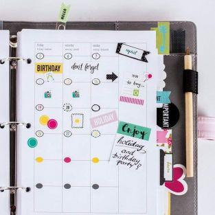 420 stickers dates pour Bullet journal - couleurs vives