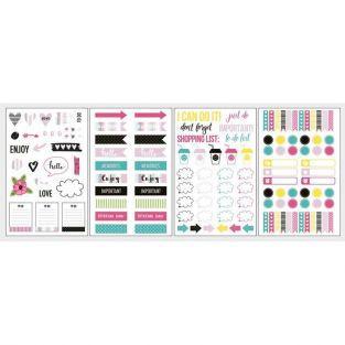 131 stickers symboles pour Bullet journal - couleurs vives