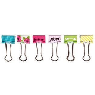 Pinces double-clip x 6 - Happy