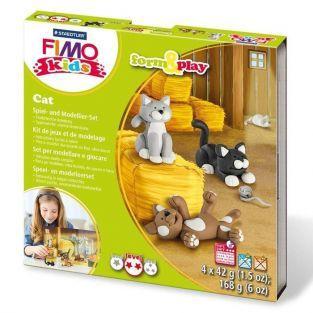 Coffret de modelage FIMO pour enfants - Chats