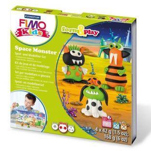 Conjunto de modelado FIMO para niños - Monstruos espaciales