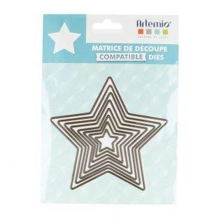 Matrices de découpe 8 grandes étoiles à 5 branches