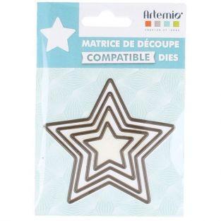 Matrices de découpe 4 petites étoiles à 5 branches