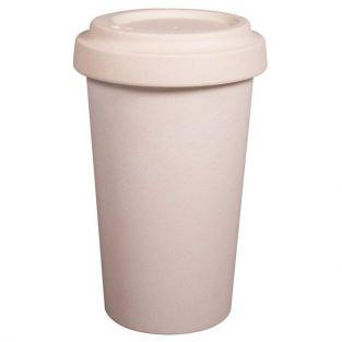 Bamboo mug with lid to decorate 60 cl